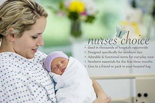 5 Piece Hospital Hat /& Mitten Set for Newborn Baby by Nurses Choice