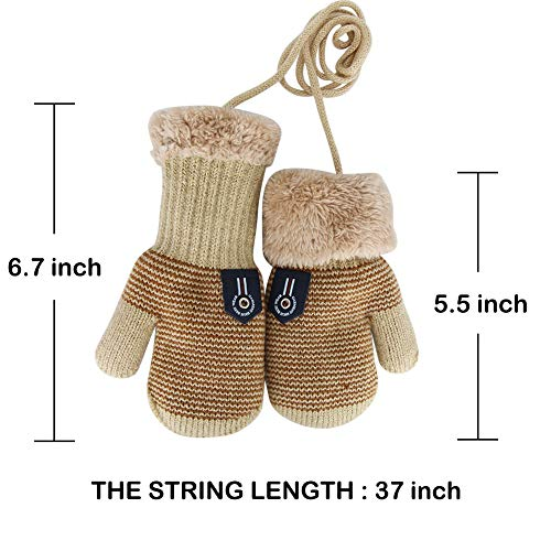 65d5dfa0c Gloves & Mittens – Zhtrade 3 Pairs Baby Boys Girls Winter Sherpa Lined Mittens  Toddler Kids Warm Knit Gloves with String Offers