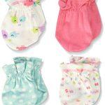 Gerber Unisex-Baby Newborn 3 Pack Hippo Mitten