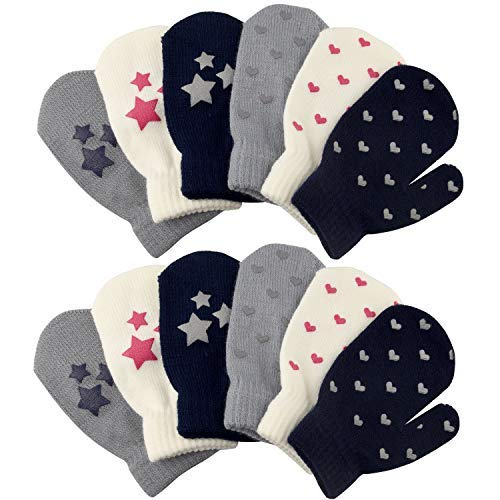 Magnificent Baby Baby Girls Pink Icing Fleece Mittens