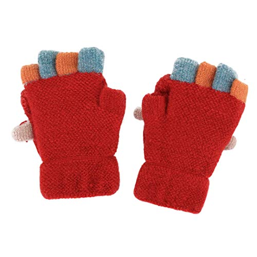 TM Toddler Baby Little Girls Boys Cute Cartoon Animal Patchwork Color Full Finger Mittens infant Thicken Ski Outdoor Warm Gloves for 1-3 Years Old Little Kids Winter Warm Gloves,Colorful